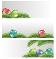 Christmas balls on pine branches vector image