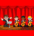 classic symphony orchestra on stage vector image