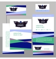 Editable template logo and corporate identity with vector image