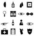 eye doctor icon set vector image