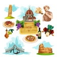 Italy Touristic Set vector image