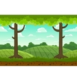 Parallax cartoon country horizontal landscape vector image