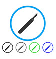 scalpel rounded icon vector image