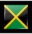 Flag of Jamaica Glossy Icon Square Shape vector image