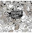 cartoon cute doodles massage frame vector image