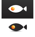 Concept of salmon fish vector image