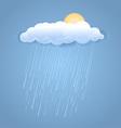 Rain summer cloud with sun vector image vector image