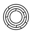 Black round maze vector image
