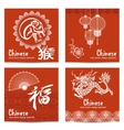 Chinese Cards Set vector image
