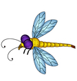 dragonfly cartoon vector image