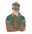Hipster sailor man vector image