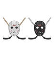 Horror hockey Mask for Halloween vector image