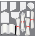 sheets scrolls and book vector image