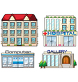 Shops set vector image