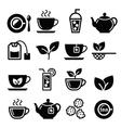 Tea and ice tea icons set vector image