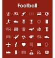 Set of football simple icons vector image