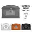 chest icon cartoon singe western icon from the vector image