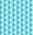 Blue rhombus seamless retro pattern vector image