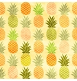 Watercolor pineapple seamless pattern background vector