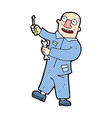 comic cartoon mechanic vector image