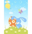 Easter bunny with egg vector image