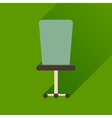 Flat icon with long shadow office chair vector image