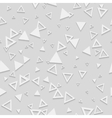 Abstract Geometric 3d White Seamless Pattern vector image