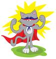 amusing cat superhero vector image