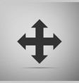 arrows in four directions icon isolated vector image