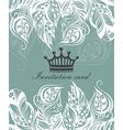 Beautiful floral invitation card vector image