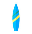 coloured image of a surfboard vector image