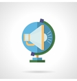 Globe and megaphone flat color icon vector image
