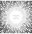 radially grunge sunbeams vector image