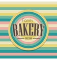 Retro bakery logo vector image