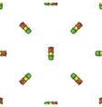 Road Street Traffic Light Seamless Pattern vector image