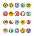 Weather Colored Icons 2 vector image