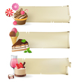 sweet banners vector image vector image