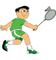 Badminton player vector image