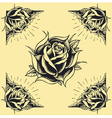 Roses and Frame Tattoo style design vector image