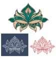 Graceful persian flower with paisley element vector image