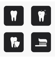 modern tooth icons set vector image