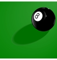 Billiard ball number eight vector image