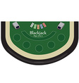 Blackjack table vector image