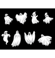 Mystery halloween ghosts vector image