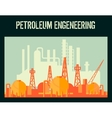 Oil industry poster vector image
