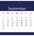 september 2018 calendar popular blue premium for vector image
