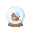 Snow globe icon cartoon style vector image