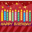 colorful birthday card vector image