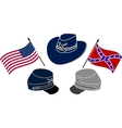 symbol of american civil war vector image vector image