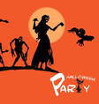 invitation to halloween vector image